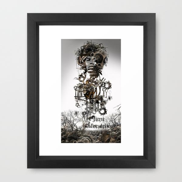 Jimi Hendrix - Framed Art Print
