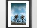 Post Battle Compassion Framed Art Print