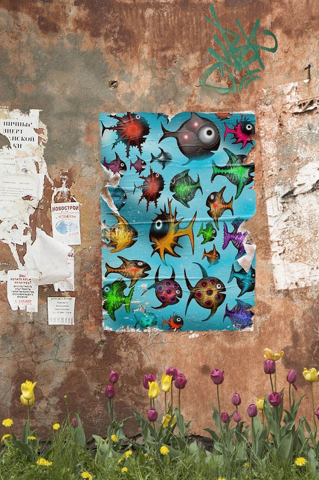 Urban Art For Fish Species Series by Andy Walsh