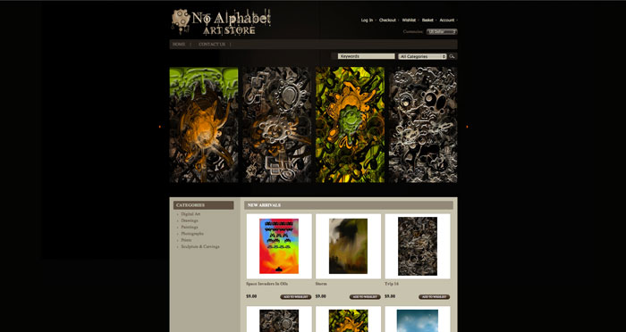Art Print Store - E Commerce build.